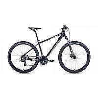 "Велосипед FORWARD APACHE 27,5 2.2 disc (27,5"" 21 ск. рост 19"") 2020-2021, черный/серый, RBKW1M37G027"