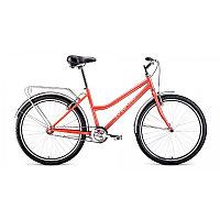 """Велосипед FORWARD BARCELONA 26 1.0 ( 1 ск. рост 17"""") 2020-2021, коралловый/бежевый, RBKW1C161002"""