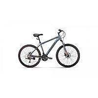 """Велосипед FORWARD HARDI 26 2.0 disc (26"""" 21 ск. рост 17"""") 2020-2021, серый матовый/черный, RBKW1M66Q"""