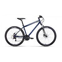 "Велосипед FORWARD SPORTING 27,5 3.0 disc (27,5"" 21 ск. рост 17"") 2020-2021, темно-синий/серый"