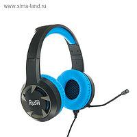 Наушники Smartbuy RUSH MACE, игровые, микрофон, 3.5 мм, 2.4 м, чёрно-синие