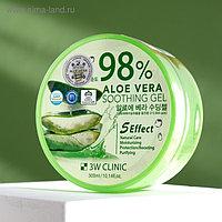Универсальный увлажняющий гель с алоэ вера 3W CLINIC 98% Aloe Vera Soothing Gel, 300 мл