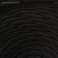 Пряжа трикотажная лицевая 100м/320±15гр, ширина нити 7-8 мм (чёрный)