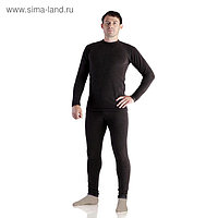 Комплект мужской термо «Норд» (джемпер, брюки), цвет чёрный, размер 46, рост 176
