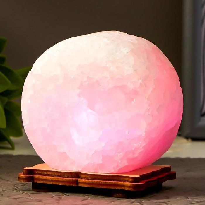 """Соляной светильник """"Круг"""" LED (диод цветной) USB белая соль 12,5*5*10 см - фото 3"""