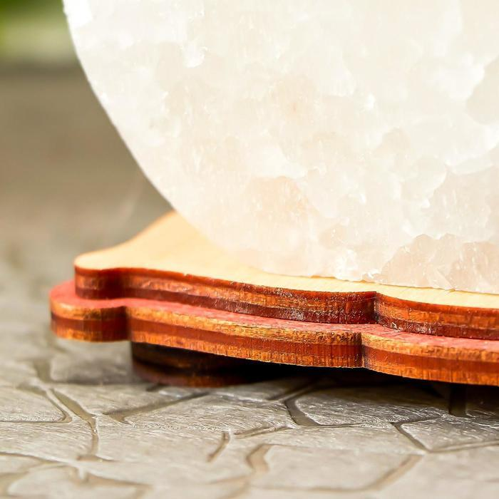 """Соляной светильник """"Круг"""" LED (диод цветной) USB белая соль 12,5*5*10 см - фото 7"""