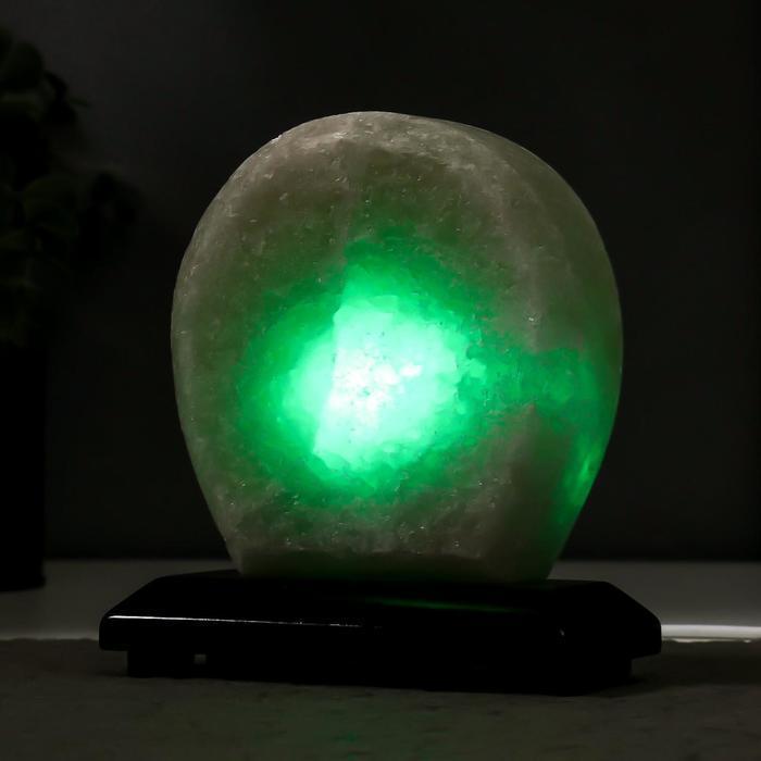 """Соляной светильник """"Круг"""" LED (диод цветной) USB белая соль 12,5*5*10 см - фото 9"""