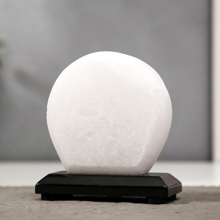 """Соляной светильник """"Круг"""" LED (диод цветной) USB белая соль 12,5*5*10 см - фото 10"""