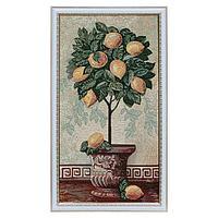 """Гобеленовая картина """"Лимонное дерево"""" 32х62 см(35х64)"""