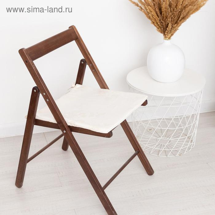 Сидушка на стул жаккард фиалка молочный 40х40х1,5см пэ100% - фото 1