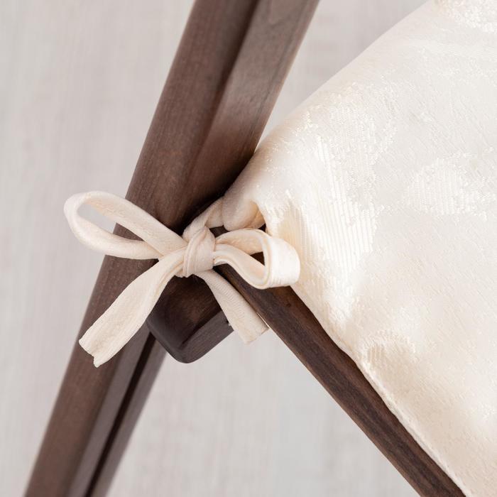 Сидушка на стул жаккард фиалка молочный 40х40х1,5см пэ100% - фото 2