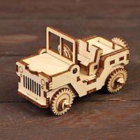 Деревянный конструктор «Военный джип»