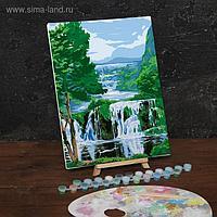 Картина по номерам на холсте с подрамником «Водопад» 30х40 см
