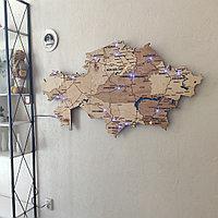 Карта Казахстана с диодной подсветкой.