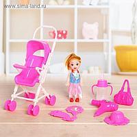 Кукла-малышка «Ляля» в коляске, с аксессуарами, МИКС