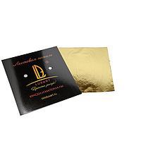 Поталь в книжке 14х14 см, 10 листов, Luxart Deco Potal, цвет золото шампань PL03V0010