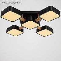 Светильник 35449/5 LED 120Вт 3000-6000К черный 62х62х11,5 см
