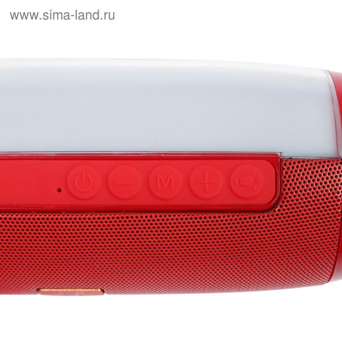 УЦЕНКА Портативная колонка Enigma SK1012R, microSD/USB/FM, Bluetooth 5.0, 2х5 Вт, 1200 мАч, красная - фото 3