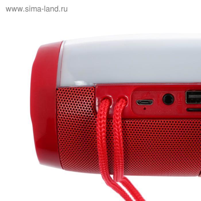 УЦЕНКА Портативная колонка Enigma SK1012R, microSD/USB/FM, Bluetooth 5.0, 2х5 Вт, 1200 мАч, красная - фото 4