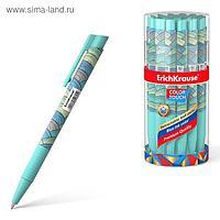 Ручка шариковая автоматическая ErichKrause ColorTouch Emerald Wave, узел 0.7 мм, чернила синие