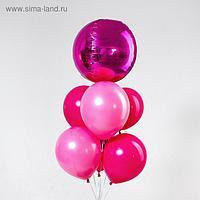 Букет из шаров «Вечеринка», фольга, латекс, набор 7 шт., цвет фуксии