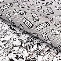 Бумага упаковочная глянцевая двусторонняя, Мстители, 60x90 см