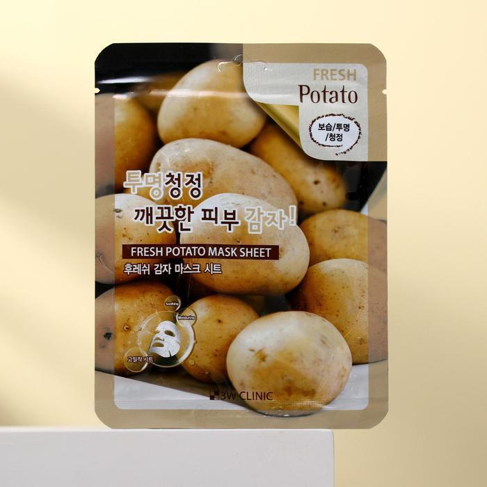 Тканевая маска для лица 3W Clinic с экстрактом картофеля, 23 мл - фото 1