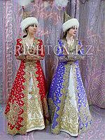 Длинный казахский камзол , платье пошив