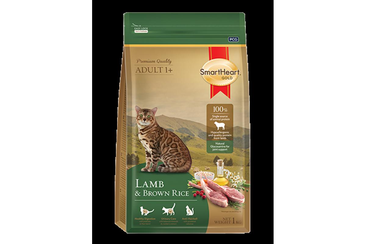 Smart Heart Gold для взрослых кошек, с ягненком и коричневым рисом