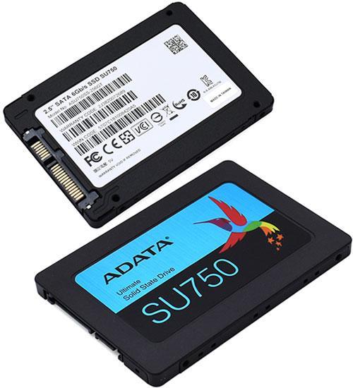 Твердотельный накопитель SSD ADATA SU750, 256 GB SATA ASS-256GT-C, SATA 6Gb/s, 7mm