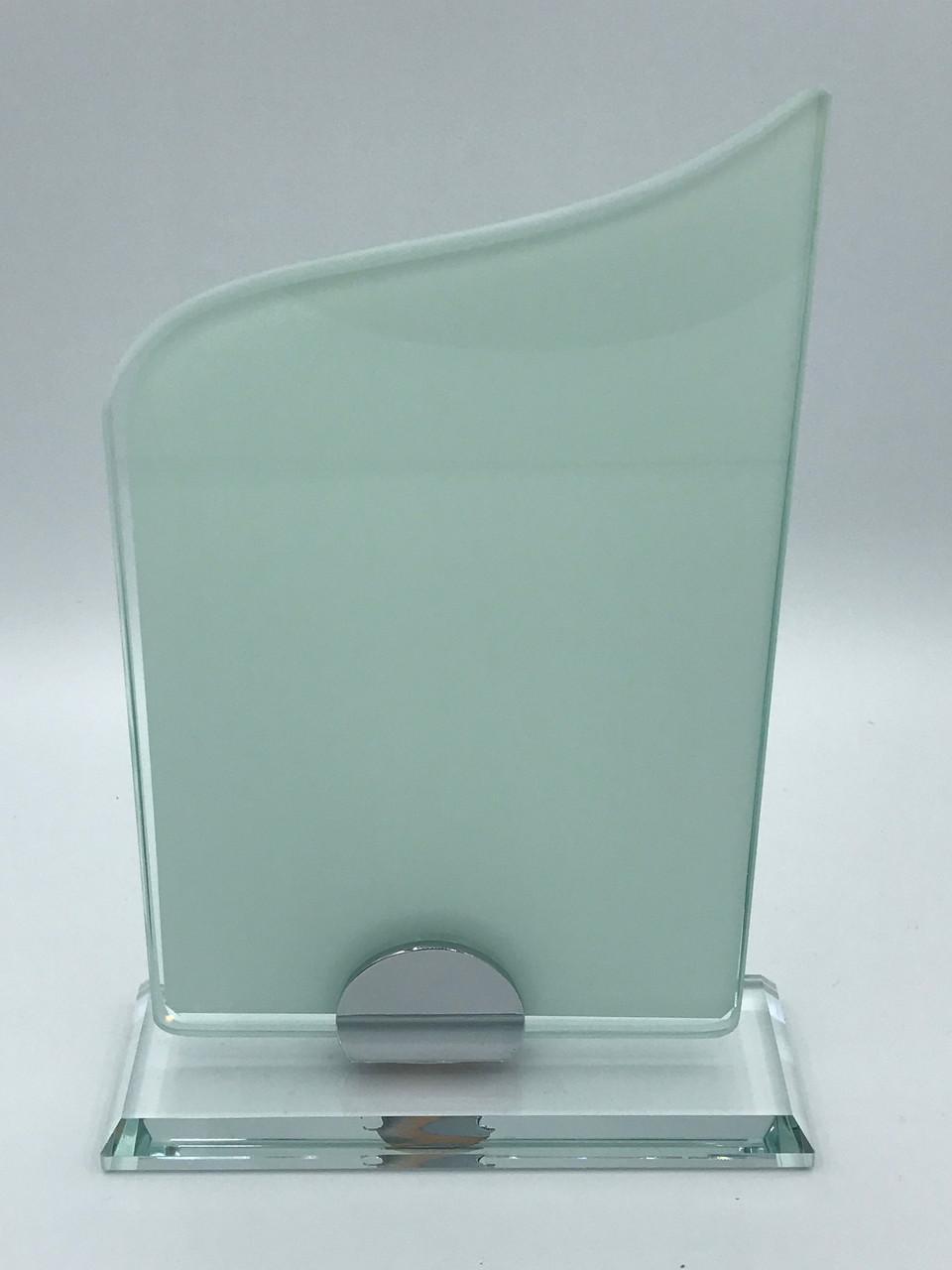 """Награда стеклянная для сублимации (h 20см) """"Пламя"""""""