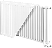 Тип 22VK 300 мм Нижнее подключение (2 панели, 2 ряда ребер)