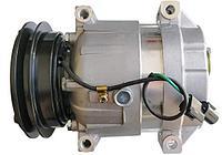 Компрессор кондиционера на экскаватор Hyundai R140W.