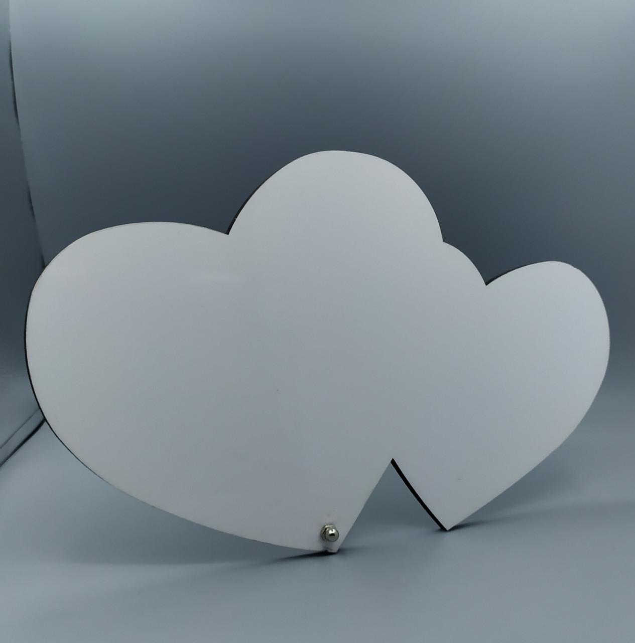 Рамка МДФ для сублимации (два сердца), размер 280х180х5мм