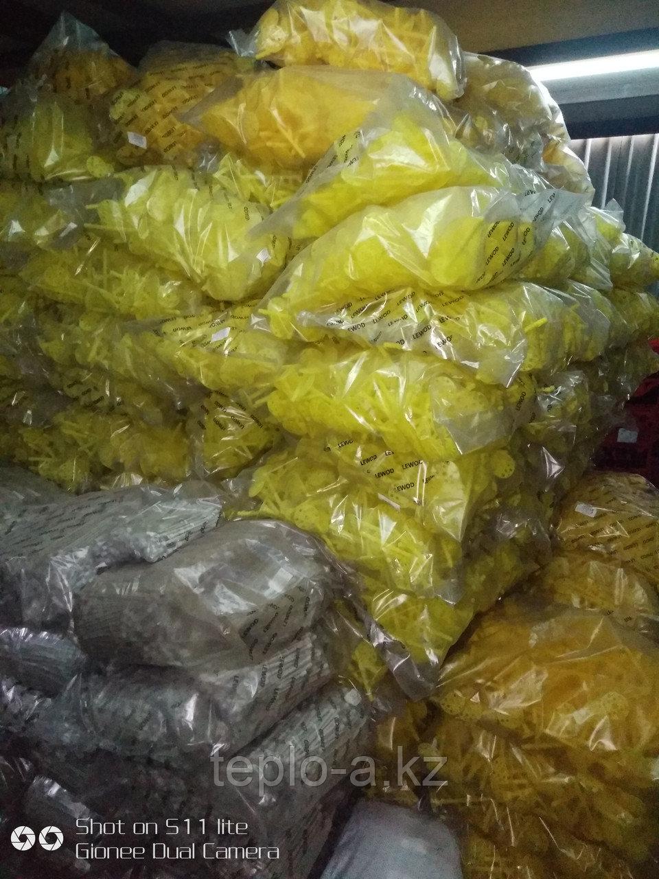 Дюбель зонтик  пластиковый для теплоизоляции. 10-160  mm Желтые