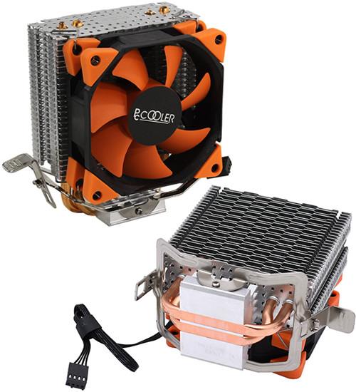 Система охлаждения PCCooler S88, orange-black Cooler for S1200/115x/775/AMD, 2000 rpm, TDP 98W, 8cm