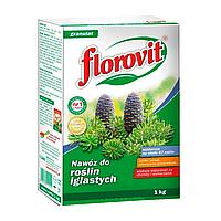 Гранулированное минеральное удобрение для хвойных растений | FLOROVIT коробка 1 кг