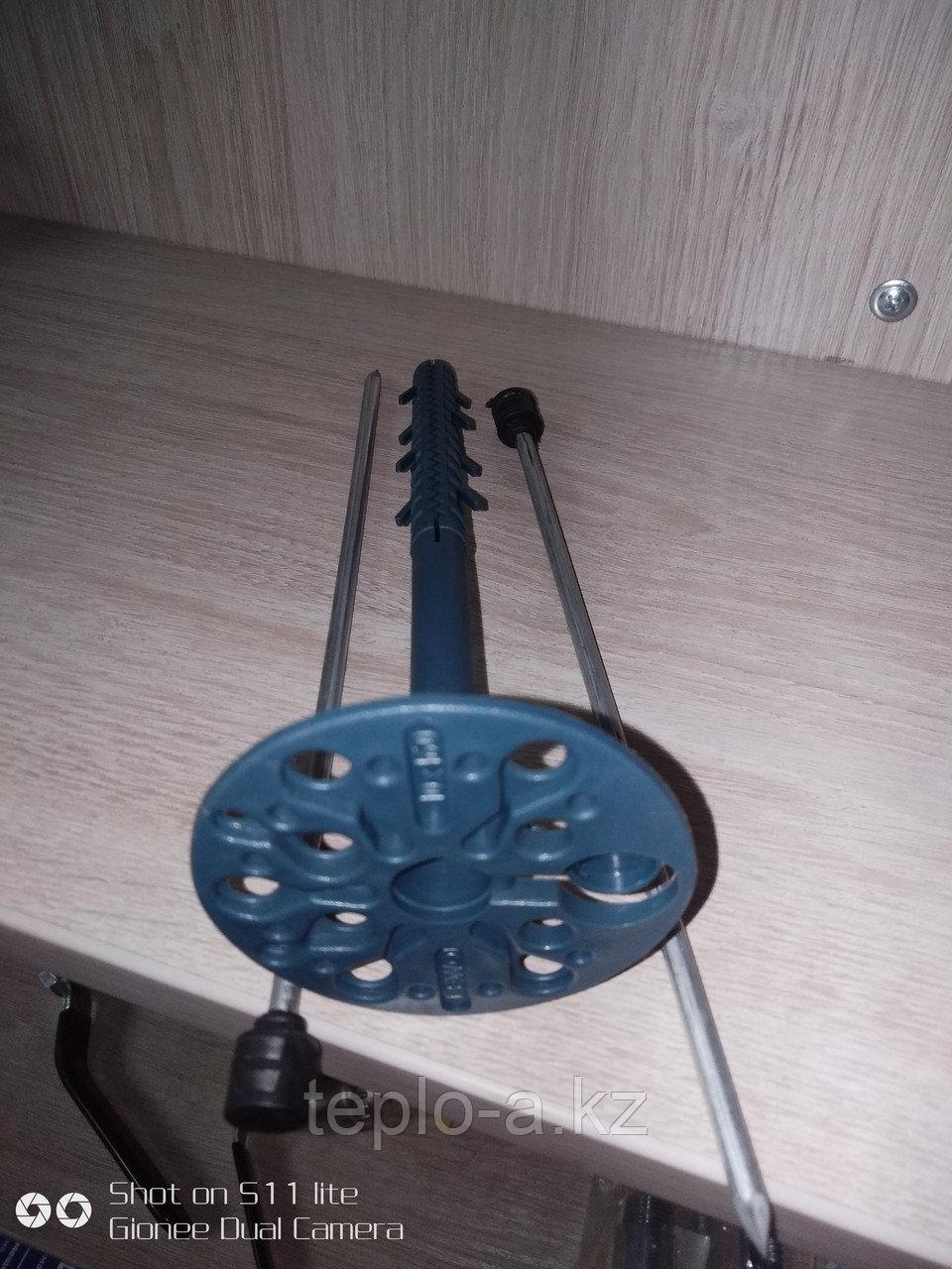 Дюбель зонтик пластиковый с Металлическим гвоздь.  с Термоголовой. 10-180  mm Синие