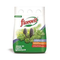 Гранулированное минеральное удобрение для хвойных растений | FLOROVIT мешок 3 кг