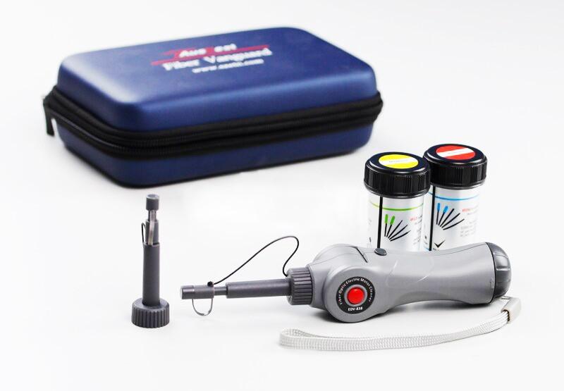 Автоматический очиститель оптических феррул и портов FC, SC, ST, E2000, LC, MU ,2500+ очисток (питание АА 2шт)