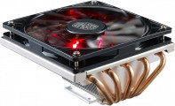 Супер Низкопрофильный Вентилятор для CPU CoolerMaster GeminII M5 LED Intel&AMD 4-pin(PWM), 500-1800RPM