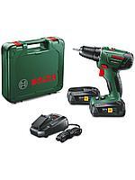 Bosch PSR 1800 LI-2 (2 акк.) 550 об./мин, 25 Нм Шуруповерт