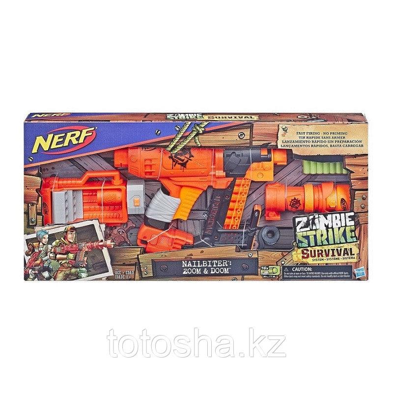 Бластер Nerf Zombie Strike Nailbiter 200M&Doom , E6163