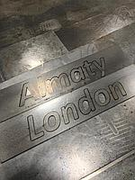 Буквенная надпись на металле