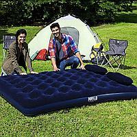 Двуспальный надувной матрас 203х152x22 см с насосом и подушками, Bestway 67374