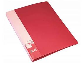 Папка-скоросшиватель с пружинным механизмом БЮРОКРАТ, А4 , внутренний карман, красная