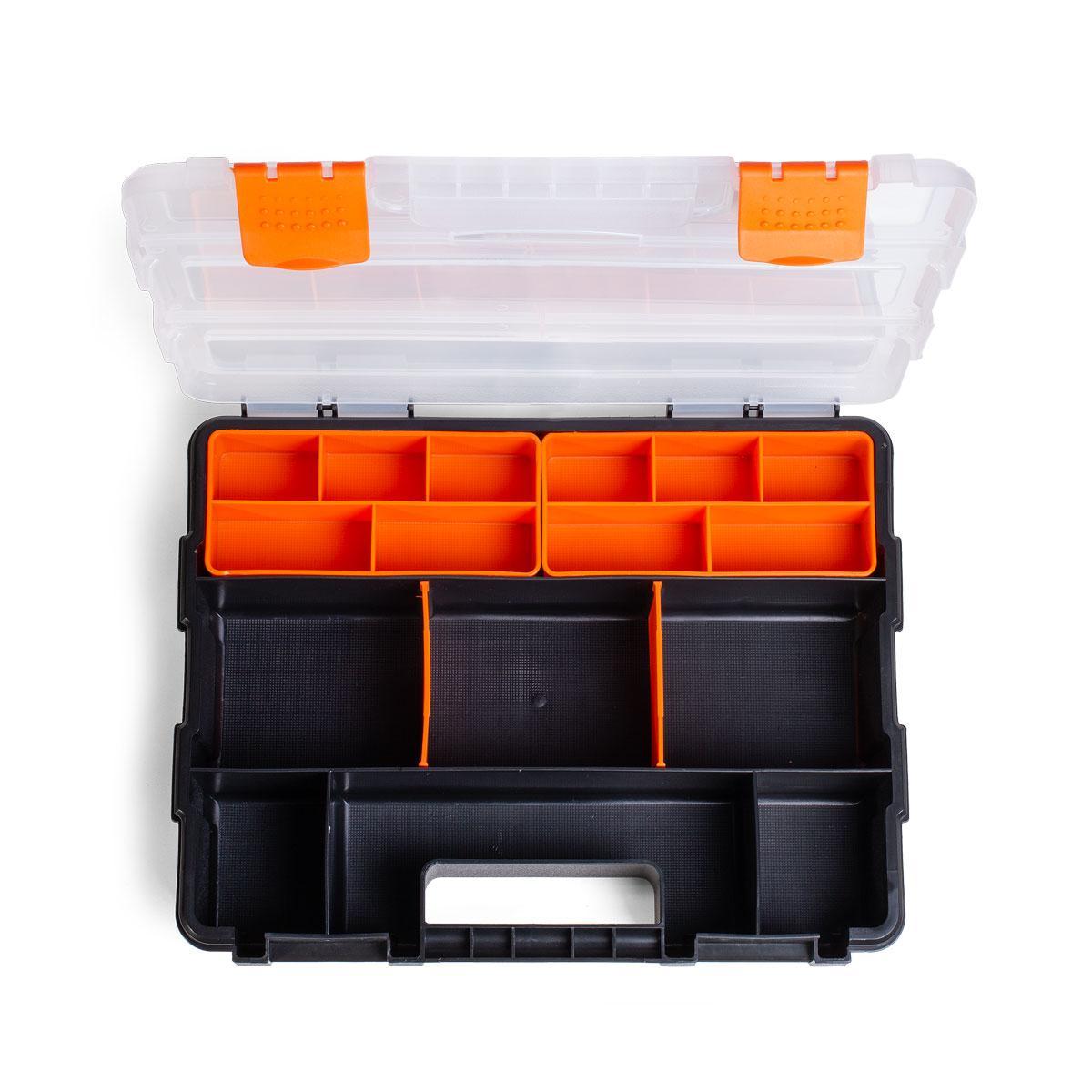Кейс-органайзер с 9 отделениями и 2 съемными модулями