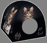 Дом дизайн для животных 33*33*40 PerseiLine ДМД-1 Граффити