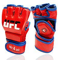 Перчатки MMA UFC (шингарты) для единоборств на липучке Try&Do красные