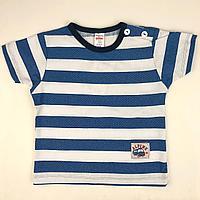 Хлопковая футболка с пуговицами на плече Breeze